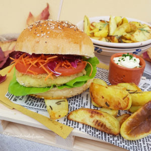 questa immagine rappresenta hamburger vegetali con buns homemade ricetta di pasticciandoconlafranca