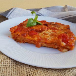 questa immagine rappresenta lasagna veg fatta in casa ricetta di pasticciandoconlafranca