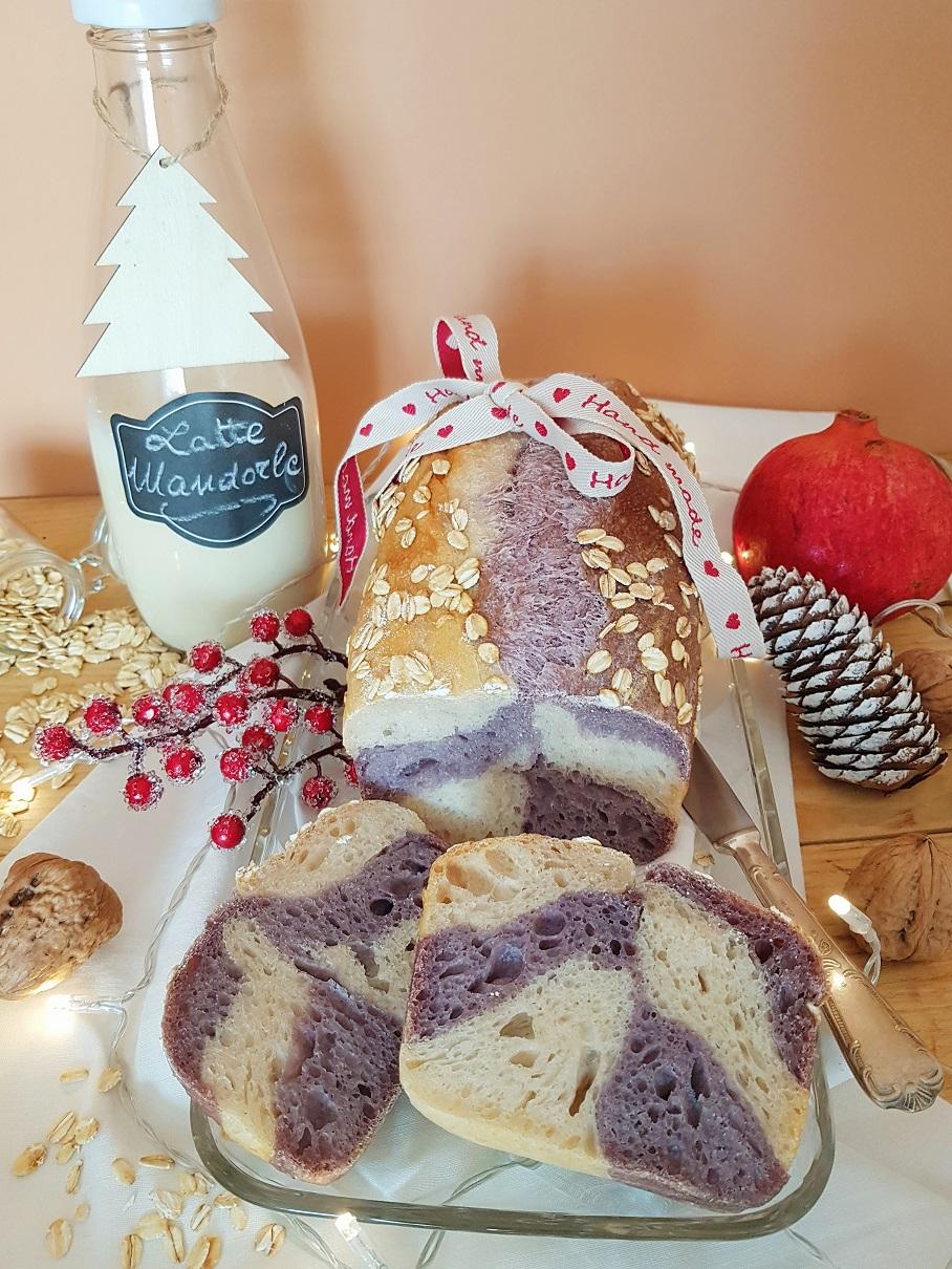 questa immagine rappresenta pan baueltto bicolore ricetta di pasticciandoconlafranca