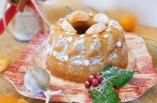 questa immagine rappresenta bundt cake zucca e mandarino ricetta di pasticciandoconlafranca