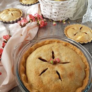 questa foto rappresenta la apple pie vegana vegan apple pie dalla ricetta di pasticciandoconlafranca