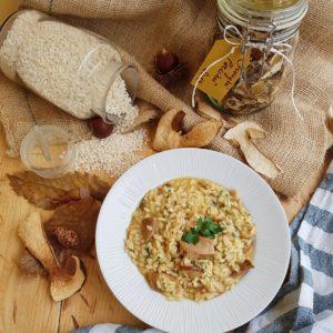 questa immagine rappresenta risotto ai funghi porcini ricetta di pasticciandoconlafranca