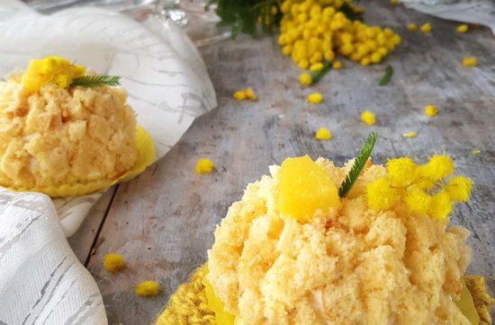 questa immagine rappresenta tortine mimosa ricetta di pasticciandoconlafranca