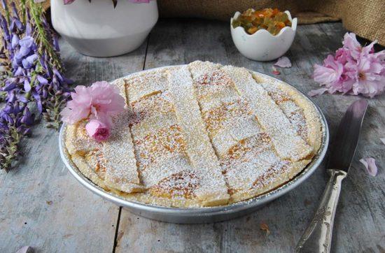 questa immagine rappresenta la pastiera napoletana versione vegana ricetta di pasticciandoconlafranca