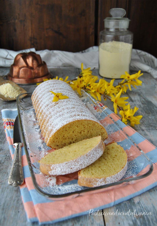 questa immagine rappresenta torta amor polenta senza latte e senza uova ricetta di pasticciandoconlafranca