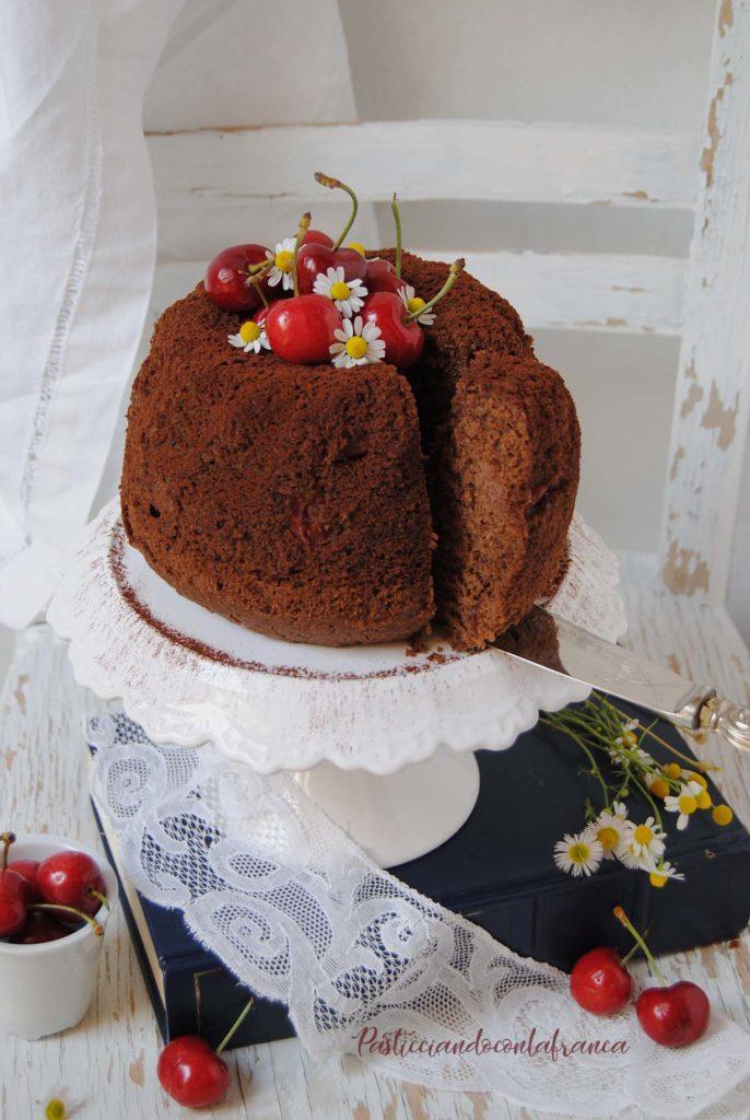 Bundt cake cioccolato e ciliegie ricette di pasticciandoconlafranca