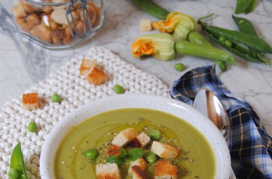crema estiva di piselli e zucchine ricetta di pasticciandoconlafranca