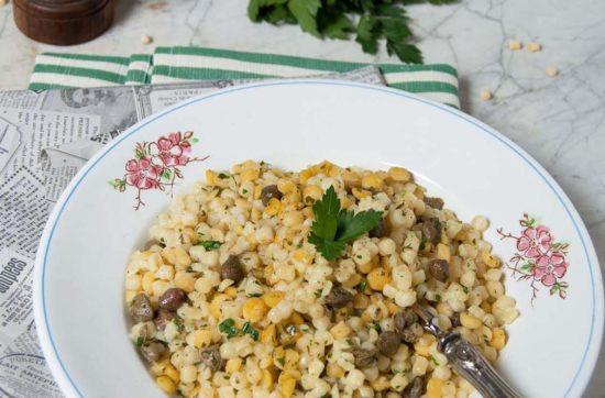 fregola sarda con ceci e capperi al profumo di mare ricetta di pasticciandoconlafranca