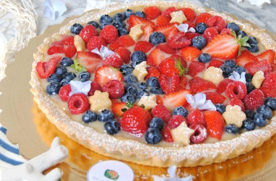 crostata con crema al limone e frutti di bosco ricetta di pasticciandoconlafranca