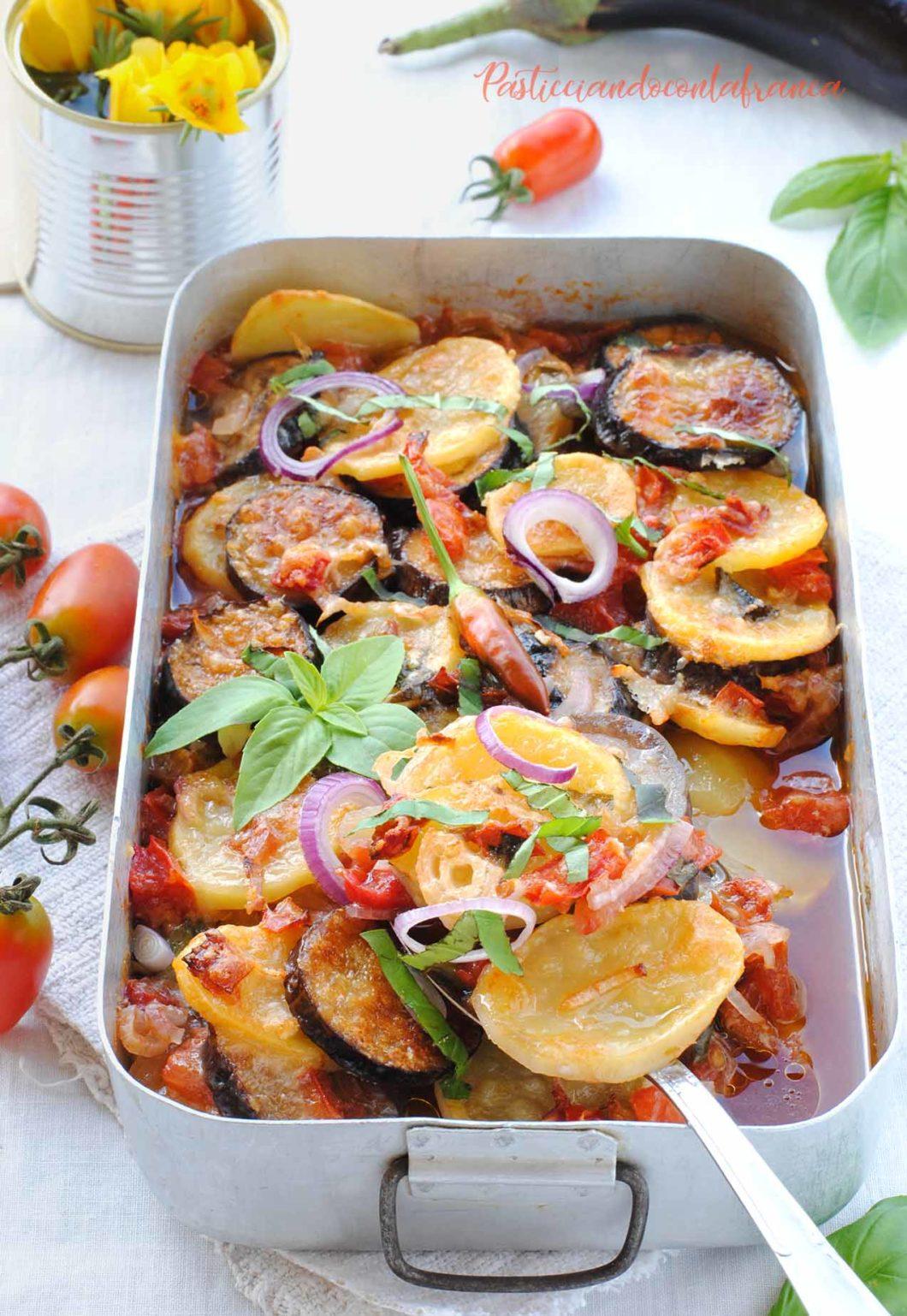 Ricette Verdure Vegane.Ratatuille Di Verdure La Ratatuja Pasticciandoconlafranca Ricette Vegane