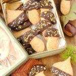 questa immagine rappresenta biscotti senza glutine alla castagna ricetta di pasticciandoconlafranca