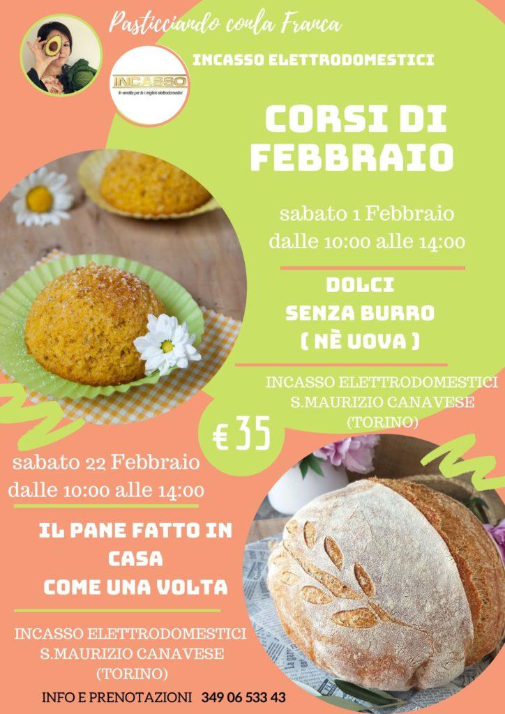 questa immagine rappresenta la locandina dei Corsi di cucina naturale e panificazione a Torino