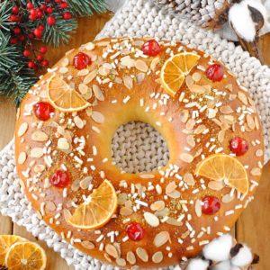 questa immagine rappresenta torta dei re magi roscon de reyes ricetta di pasticciandoconlafranca