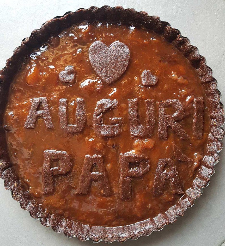 questa immagine rapprresenta crostata con cacao e crema di mandorle ricetta di pasticciandoconlafranca