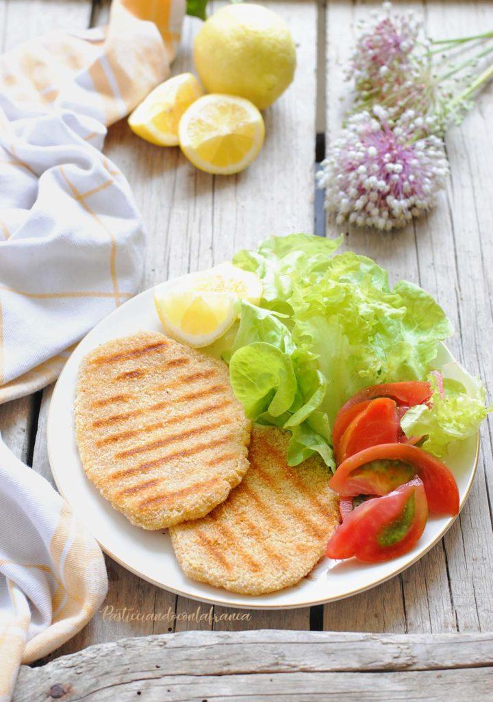 questa immagine rappresenta le cotolette vegetali fatte in casa ricetta di pasticciandoconlafranca