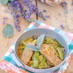 questa immagine rappresenta tempeh e zucchine in carpione ricetta di pasticciandoconlafranca