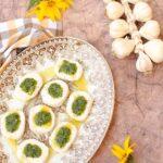 questa immagine rappresenta i tofumini al verde ricetta di pasticciandoconlafranca