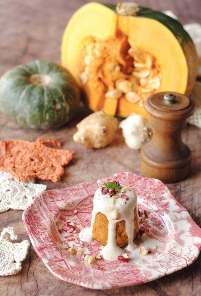 Questa immagine rappresenta i flan di zucca e topinambur ricetta di pasticciandoconlafranca