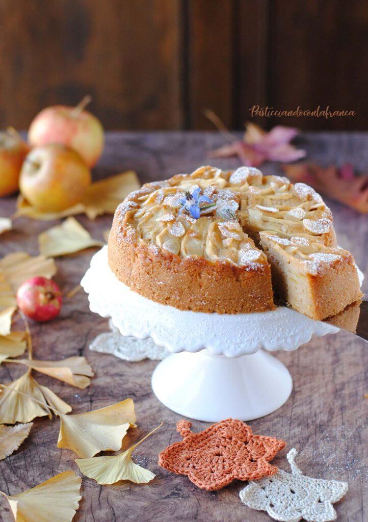 questa immagine rappresenta torta di mele vegana ricetta di pasticciandoconlafranca