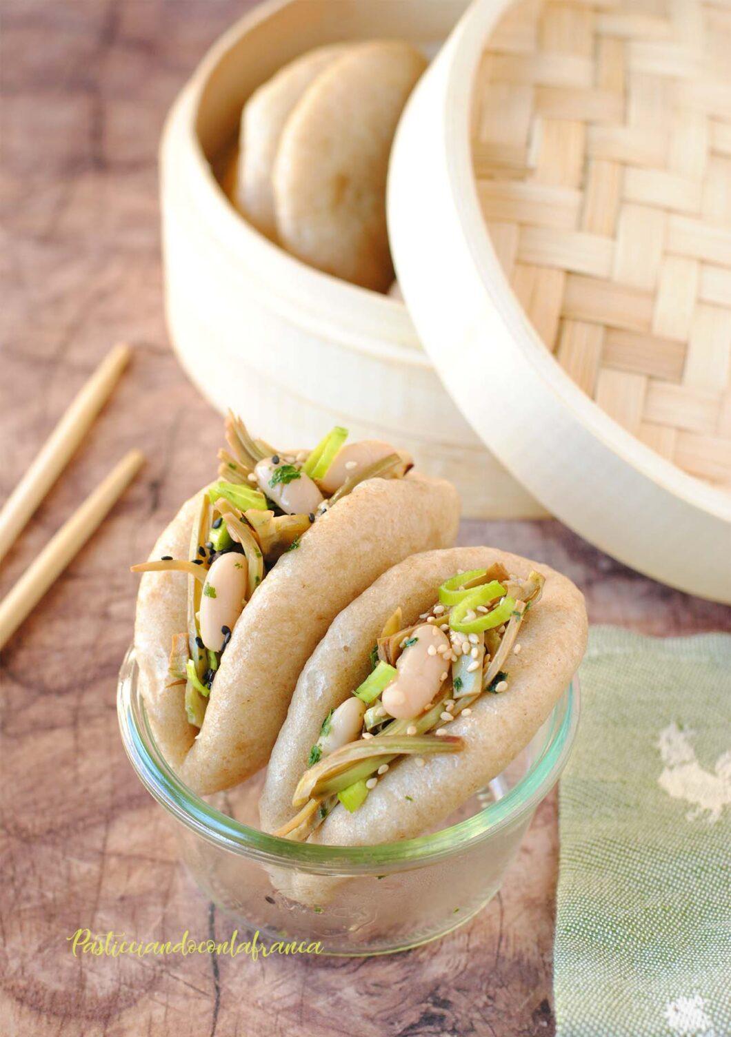 questa immagine rappresenta panini cinesi al vapore bao buns ricetta di pasticciandoconlafranca