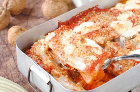 questa immagine rapprsenta la veg parmigiana di cardi ricetta di pasticciandoconlafranca