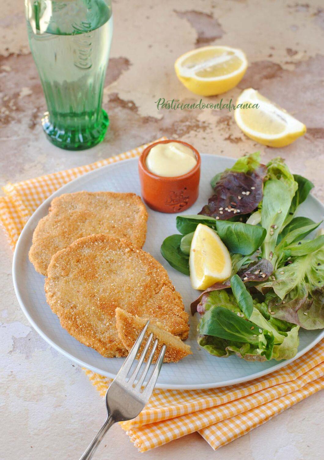 questa immagine rappresenta cotolette vegetali fatte in casa ricetta di pasticciandoconlafranca