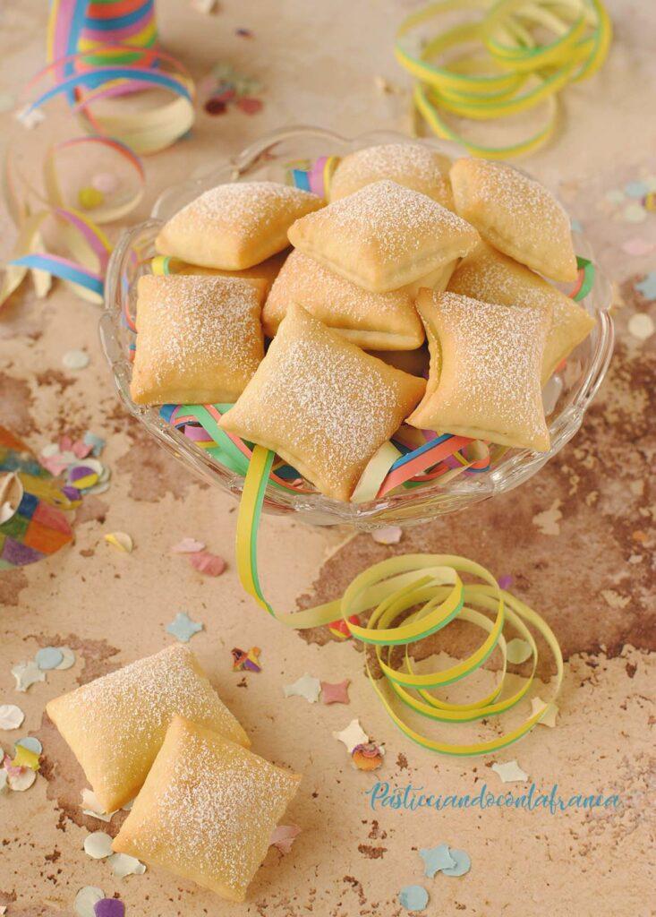 questa immagine rappresenta i ravioli dolci al forno ricetta di pasticciandoconlafranca