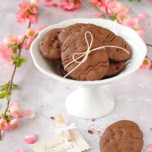 questa immagine rappresenta biscotti al doppio cioccolato ricetta di pasticciandoconlafranca