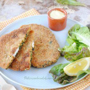 questa immagine rappresenta le spinacine vegane fatte in casa ricetta di pasticciandoconlafranca