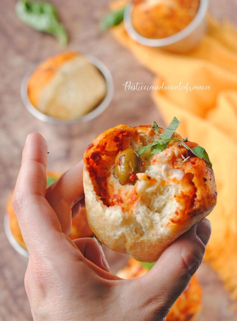 questa immagine rappresenta i pizzamuffin ricetta di pasticciandoconlafranca
