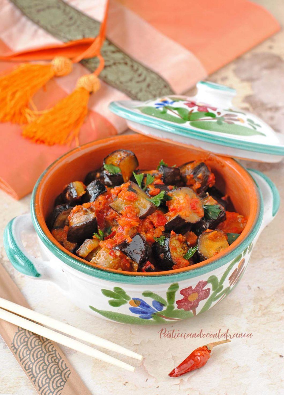 questa immagine rappresenta melanzane all'orientale terong balado ricetta di pasticciandoconlafranca